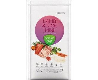 Natura Diet Lamb & Rice Kroketten für den kleinen Hund mit Lamm und Reis