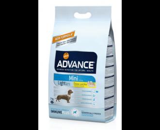 Advance Light mini Huhn und Reis Trockenfutter für Hunde kleiner Rassen