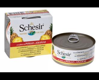 Schesir Nassfutter für Katzen Dose Thunfisch und/oder Huhn mit Früchten [4 Sorten]