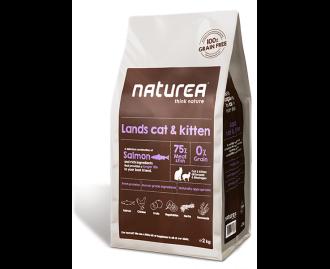 Naturea Trockenfutter für Katzen und Kätzchen Lands cat & Kitten