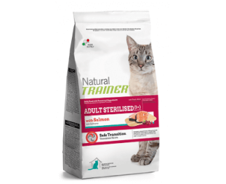 Trainer Trockenfutter für sterilisierte ausgewachsene Katzen mit Lachs