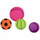 2X1 Hundespielzeug Ball Basketball Gummi