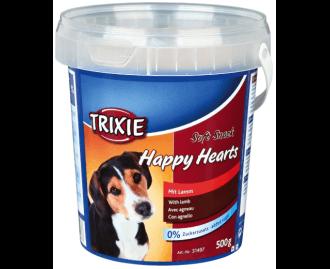 Hundeleckerlis Soft Snack Happy Hearts Lamm + Reis TRIXIE 500 gr Behälter