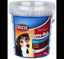 Golosinas para perros 4 Botes 500 Gramm weiche Glückliche Snack Rolls Lachs TRIXIE