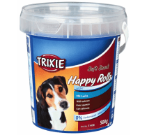 Hundeleckerlis Soft Snack Happy Rolls Lachs TRIXIE 500 gr Behälter