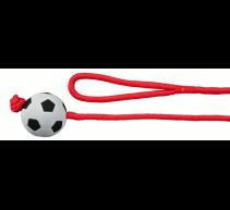 2X1 Gummiball mit Seil 6 cm 1,00 m TRIXIE Hundespielzeug