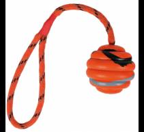 Pelota con cuerda pesadacaucho natürliche 6cm 30cm TRIXIE mordedor y juguete para perros