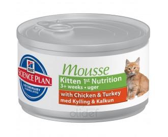 Hill's SP Trockenfutter für Katzen Kitten 1st Nutrition (Mousse) mit Huhn und Truthahn