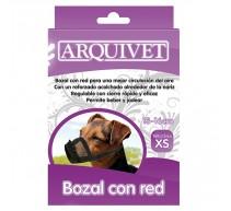 Maulkorb Nylon mit rot für Hunde