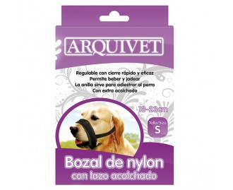 Maulkorb Nylon mit gefütterter Schlinge für Hunde