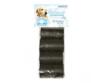 Ersatz-Kotbeutel für Hunde schwarz