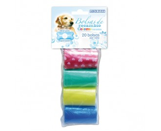 Ersatz-Kotbeutel für Hunde mehrfarbig