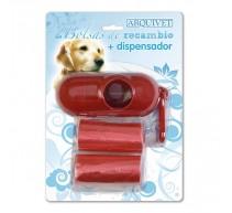 Kotbeutelspender + 2 Rollen Ersatz-Kotbeutel für Hunde