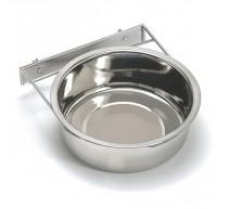 Fressnapf rostfrei mit Metallbefestigung für Hunde