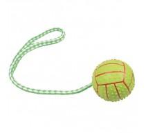 Ball grün mit Wurfschlaufe Spielzeug für Hunde