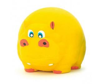 Nilpferd aus Latex gelb 7cm Spielzeug für Hunde