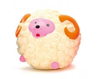 Schaf aus Latex weiss 7cm Spielzeug für Hunde