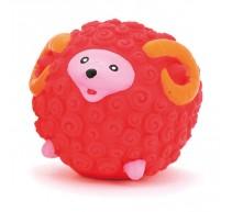 Schaf aus Latex rot 7cm Spielzeug für Hunde
