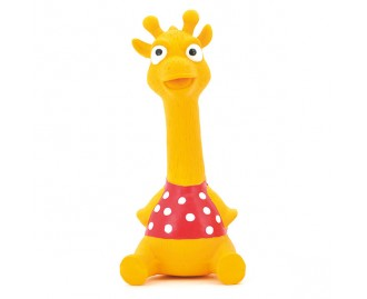 Giraffe aus Latex gelb 18cm Spielzeug für Hunde