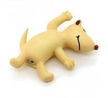 Hund aus Latex blanco 12cm Spielzeug für Hunde