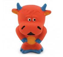 Stier aus Latex rot 11cm Spielzeug für Hunde