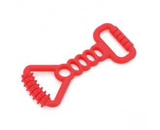 Wurfspielzeug rot zum Kauen 20cm für Hunde