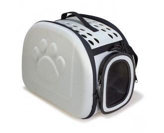 Transportbox/-Tasche Farbe grau für Hunde und Katzen