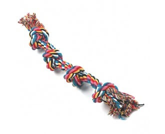 Beisstau 4er Knoten aus Baumwolle Spielzeug für Hunde