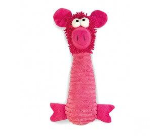 Stofftier Schwein rosa Spielzeug für Hunde