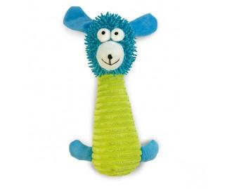 Stofftier Bär blau/grün Spielzeug für Hunde
