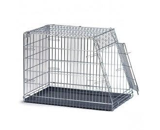 Metallkäfig schräg für Hunde und Katzen
