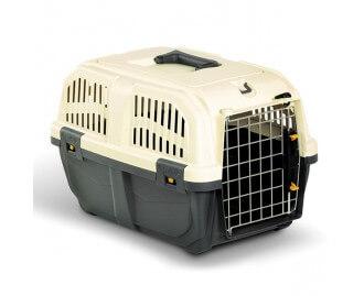 Kunststoff Transportbox SKUDO für Hunde und Katzen