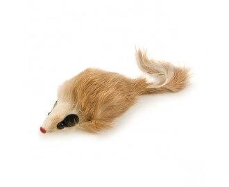Fellmaus mit Geräuschen Spielzeug für Katzen