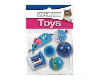 Set von 6 verschiedenen Spielzeugen für Katzen