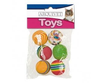 Bälle mehrfarbig Spielzeug für Katzen