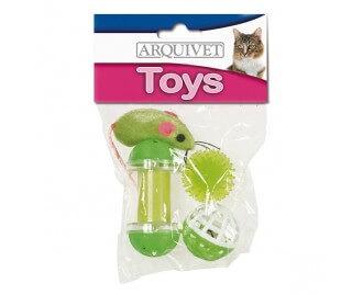 Kit juguetes variados con ratoncillo para gatos