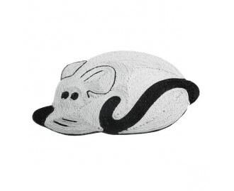 Rascador alfombra con forma de raton para gatos