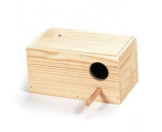 Nido de madera para periquitos y agapornis