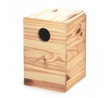 Nido de madera para ninfas y loros