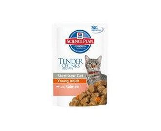 Hill's SP Nassfutter für Katzen· Adult Sterilised Beutel mit Lachs