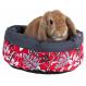 Cama cama para Nagetiere TRIXIE Blumen acolchada 35 cm. Rot / Grau