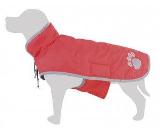 Impermeable rojo para perros