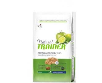 Natural Trainer Adult Maxi Trockenfutter für Hunde mit frischem Huhn chicken rice & aloe vera