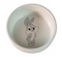 Comedero de ceramica estampado conejo para roedores
