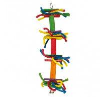 Juguete Lazos de colores con campana para pajaros
