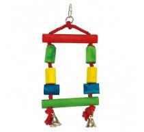 Juguete Columpio de colores con campana para pajaros