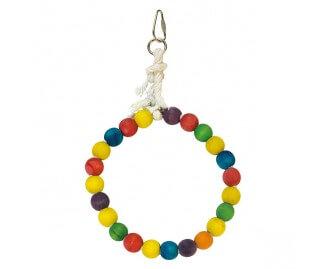 Juguete Aro de bolas de colores para pajaros