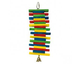 Jueguete Maderas multicolor con campana para pajaros
