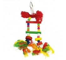 Escalera multicolor para pajaros