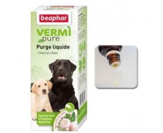 Beaphar Vermi Pure Ungezieferschutz für die innere Anwendung für Hunde, Lösung zum Einnehmen